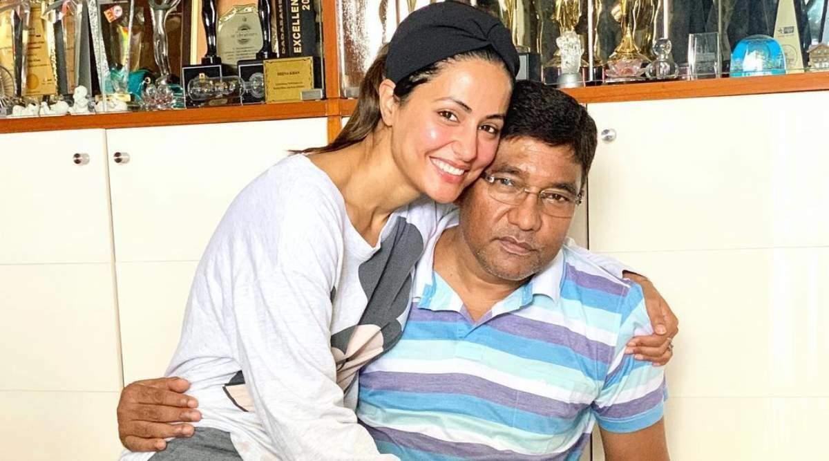हिना खान ने अपने पिता को दी श्रद्धांजलि